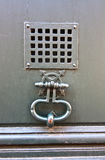 Door grill and knocker Royalty Free Stock Image
