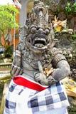Door guardian, or Dvarapala, protecting Balinese Hindu temple Royalty Free Stock Image