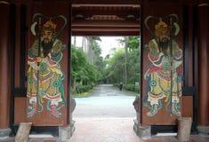Door guardian painting Stock Image