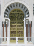 Door. Habib Bourguiba Mausoleum. Monastir. Tunisia stock photography