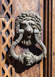 Door hammer handle lion Royalty Free Stock Photo