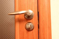 Door and handle Royalty Free Stock Image