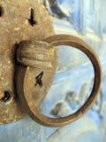 Door handle. A rotten handle on an old door Royalty Free Stock Photos