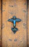 Door Handle. The Metal Door Handle In The Form Of The Angel Stock Photos