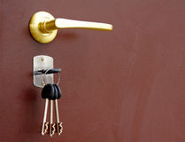 The door handle Royalty Free Stock Image