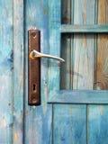 Door Handle. Detail of a door handle in a old beach hut Royalty Free Stock Photos