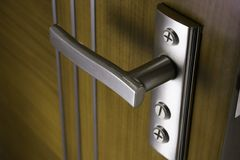 Door with handle. Very good quality of door handle Royalty Free Stock Photo