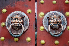 The door handle. Door handle in ancient China Royalty Free Stock Images