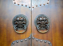 The door handle. Door handle in ancient China Royalty Free Stock Photo