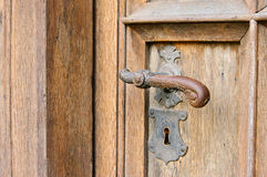 Door handle antique Stock Photo