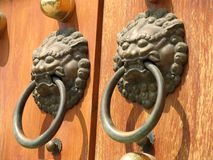 Free Door Handle At Jing An Temple Royalty Free Stock Photo - 635785