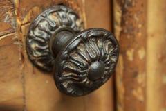 Door handle in Barcelona. Beautiful old door handle on a door in Barcelona Stock Photo