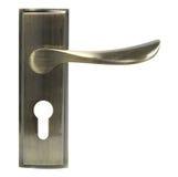 Door handle of bronze color front view. Stock Photo