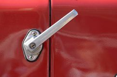 Door handle on the car. royalty free stock photography