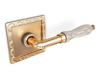 Door handle close up on a white background. 3d rendering Royalty Free Stock Photography