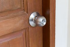Door handle closeup Royalty Free Stock Photos