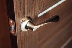Door handle, closeup view Royalty Free Stock Photo