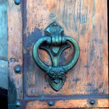 Door handle of the Donskoy Monastery Royalty Free Stock Photos