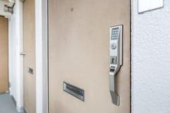 Door handle with Electronic keypad lock Royalty Free Stock Image