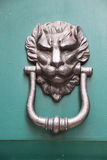 Door handle in the form of a lion Stock Image