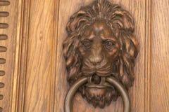 Door handle on the front door of the Italian house. Royalty Free Stock Photo