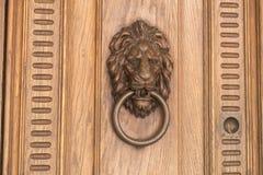 Door handle on the front door of the Italian house. Stock Images