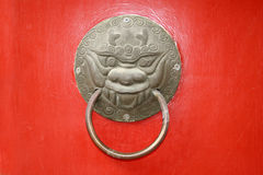 Door handle hardware. 。 royalty free stock photo