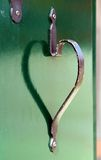 Door handle heart Royalty Free Stock Images