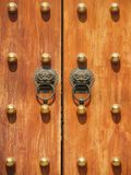 Door Handle at Jing An Temple. Shanghai, China Royalty Free Stock Images