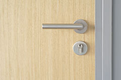Door handle and keyhole Royalty Free Stock Photography