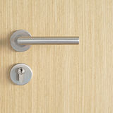 Door handle and keyhole Royalty Free Stock Photos