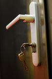 Door handle and keys Stock Images
