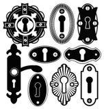 Door Handle Knob Latch Key Keyhole Royalty Free Stock Photography