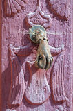 Door handle knocker close up Stock Image
