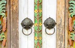 Door handle knocker Royalty Free Stock Photo