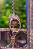 Door handle metal retro Stock Image