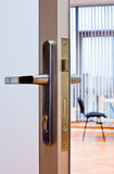 Door handle in office Stock Images