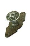 Door handle old. Door metal handle old isolated Stock Photography