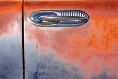 Door handle of old car Royalty Free Stock Images
