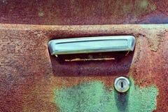 Door handle old car Stock Images