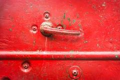 Door handle of old car Royalty Free Stock Photo