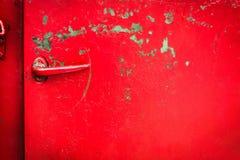 Door handle of old car Stock Image