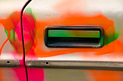 Door handle of an old car Royalty Free Stock Image