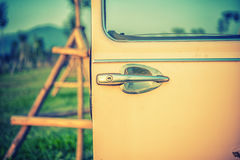 Door handle of old car Royalty Free Stock Image