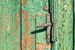 Door handle on old door Stock Photos