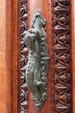 Door handle on old doors Stock Photography