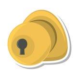 Door handle security isolated icon Stock Photo