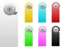 Door handle set Stock Images