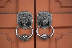 Door Handles. Lion Door Handles Royalty Free Stock Image