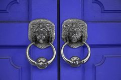 Door Handles. Lion Door Handles Royalty Free Stock Images